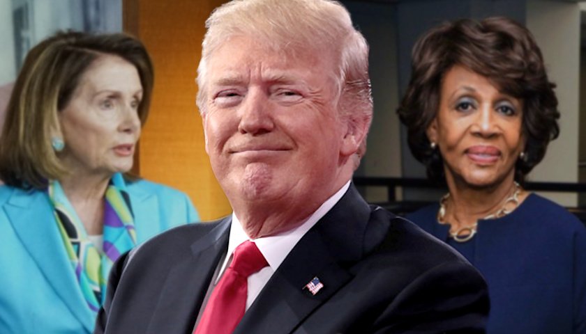 Nancy Pelosi, Maxine Waters, Donald Trump