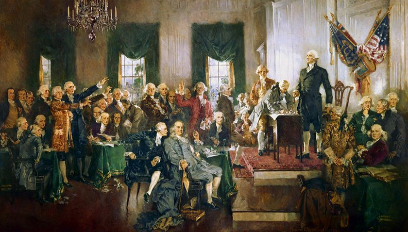 Signing the Constitution painting