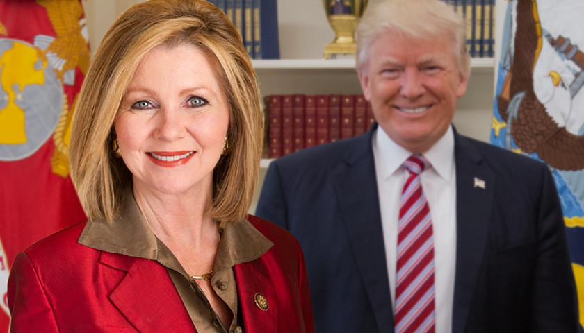 Marsha Blackburn, President Donald Trump