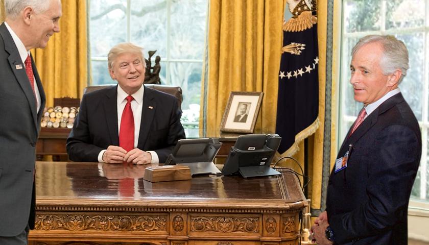 Mike Pence, Donald Trump, Bob Corker