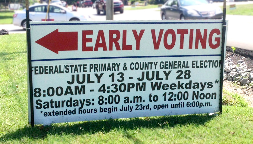 early voting 2018 primary