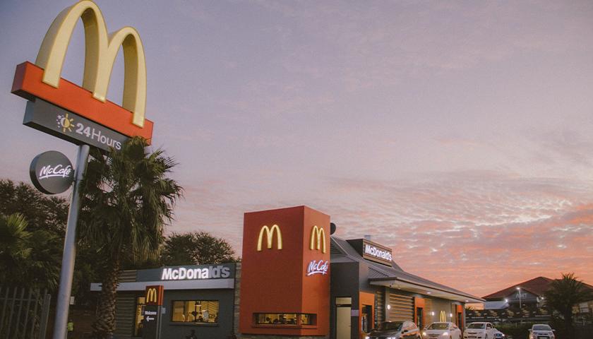 McDonald's at sunset
