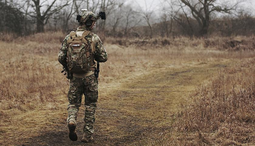 Guy in military uniform