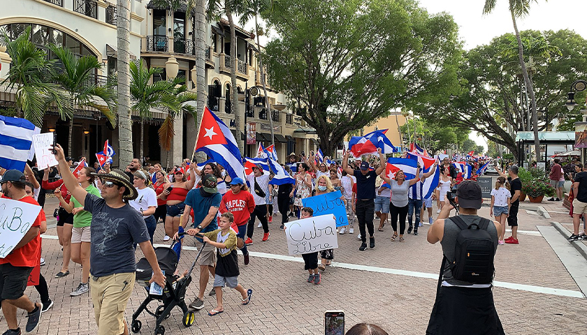 2021 Cuban government protest in Naples Florida