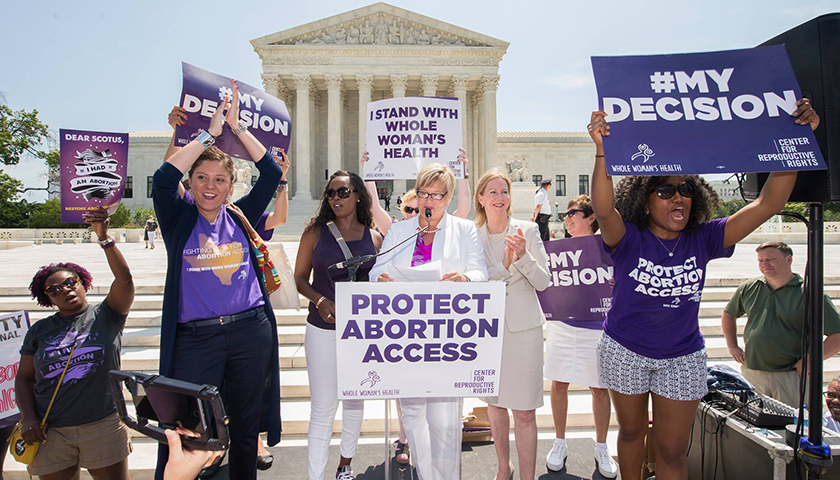 Whole Woman's Health in front of Supreme Court