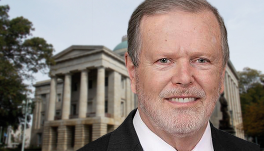 Phil Berger in front of North Carolina State Capitol