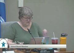 Jodi Sapp of Minnesota School Board at meeting