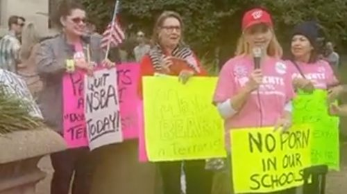 Parents protesting